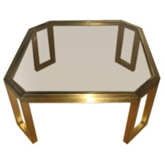 Octagonal Maison Jansen Coffee Table