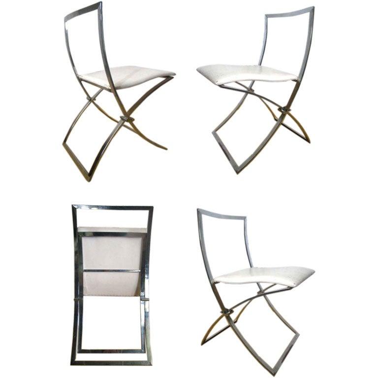 Maison Jansen Folding Chairs At 1stdibs