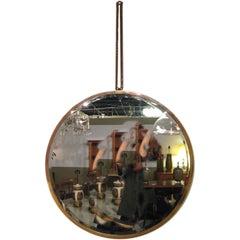 Modernist Art Deco Brass Mirror