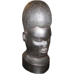 Wood Face Sculpture