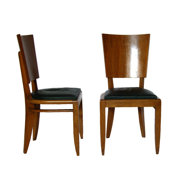 Set of 6 art deco chairs at 1stdibs for Chaise a barreaux