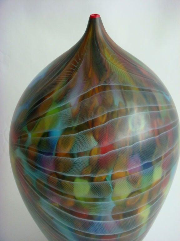 Contemporary A Fine Italian Hand blown Murano Vase by Andrea Zilio For Sale