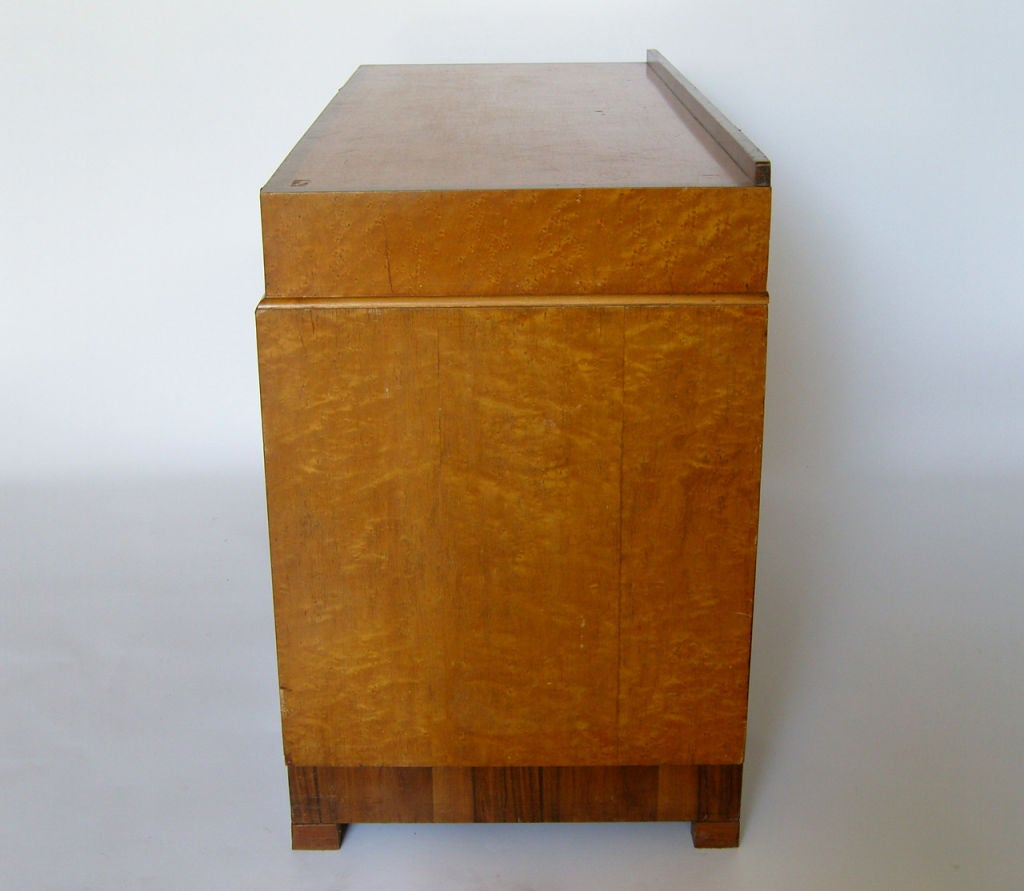 Mid-20th Century Bird's-Eye Maple and Walnut Art Deco Desk For Sale