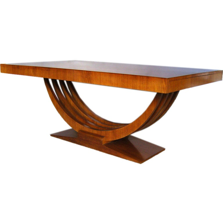 Art deco dining table at 1stdibs - Table de nuit art deco ...