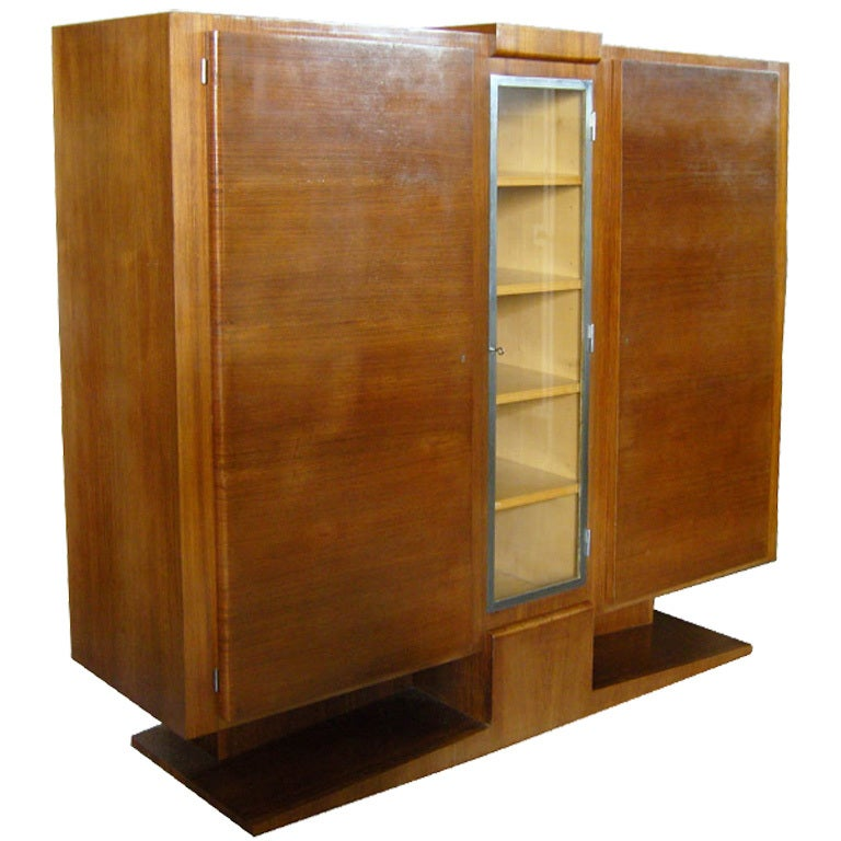 french art deco rosewood cabinet or armoire for sale at 1stdibs. Black Bedroom Furniture Sets. Home Design Ideas