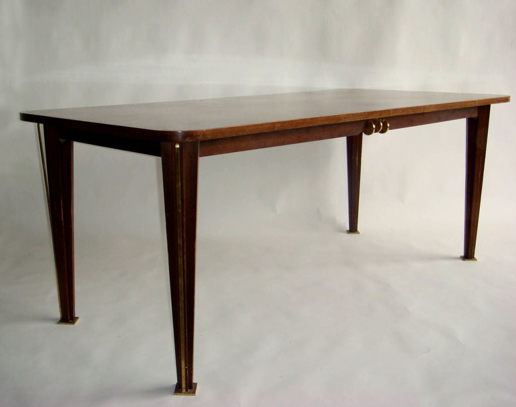 Mid-20th Century A Fine French 1950s Rosewood Dining Table For Sale