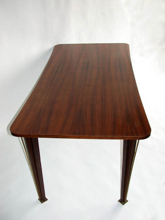 French 1950s Rosewood Dining Table For Sale 3