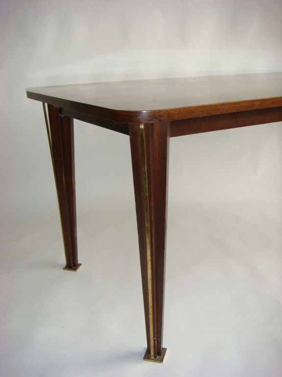 French 1950s Rosewood Dining Table For Sale 4