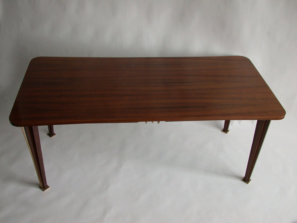 A Fine French 1950s Rosewood Dining Table For Sale 1