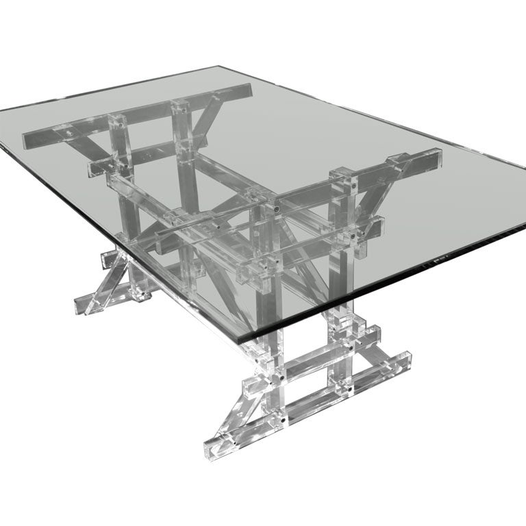 Limited edition dining table at 1stdibs for Limited space dining table