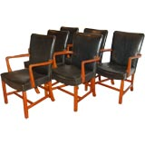 Set of six armchairs by Kaare Klint