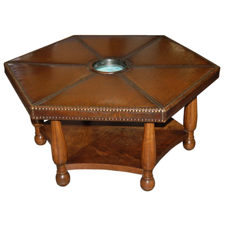 a 1930 39 s hexagonal coffee table by otto shultz at 1stdibs