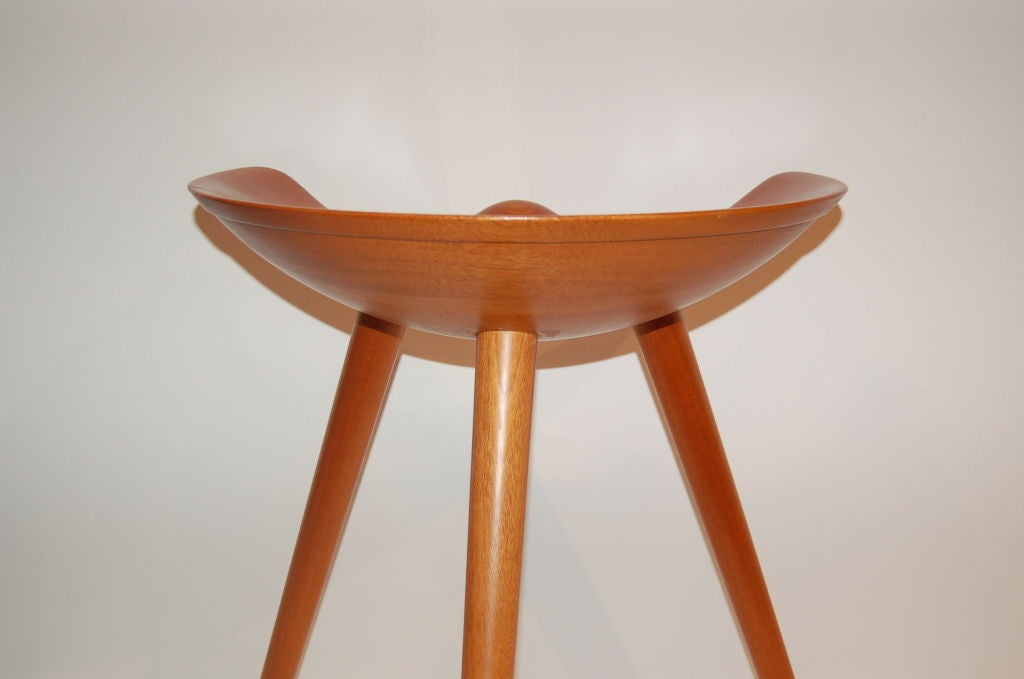 Three-legged Stool by Mogens Lassen In Excellent Condition In New York, NY