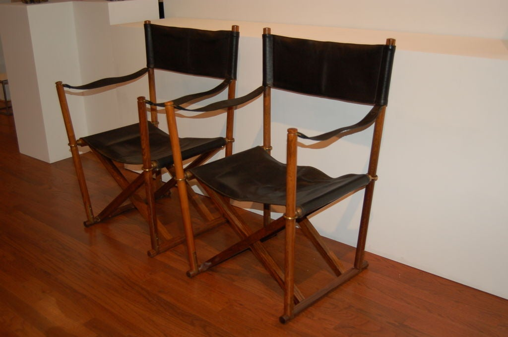 A Pair Of Rosewood Folding Chairs By Mogens Koch At 1stdibs