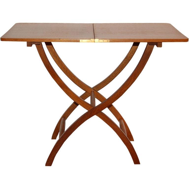 Elegant Mahogany Folding Table By Danish Cabinetmaker At 1stdibs