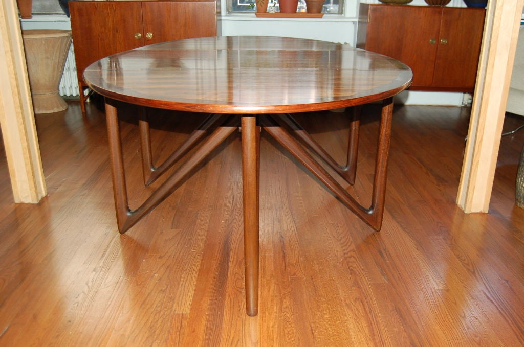 Dining Table by Kurt Östervig for Jason Möbler, Denmark, 1950s In Excellent Condition For Sale In New York, NY