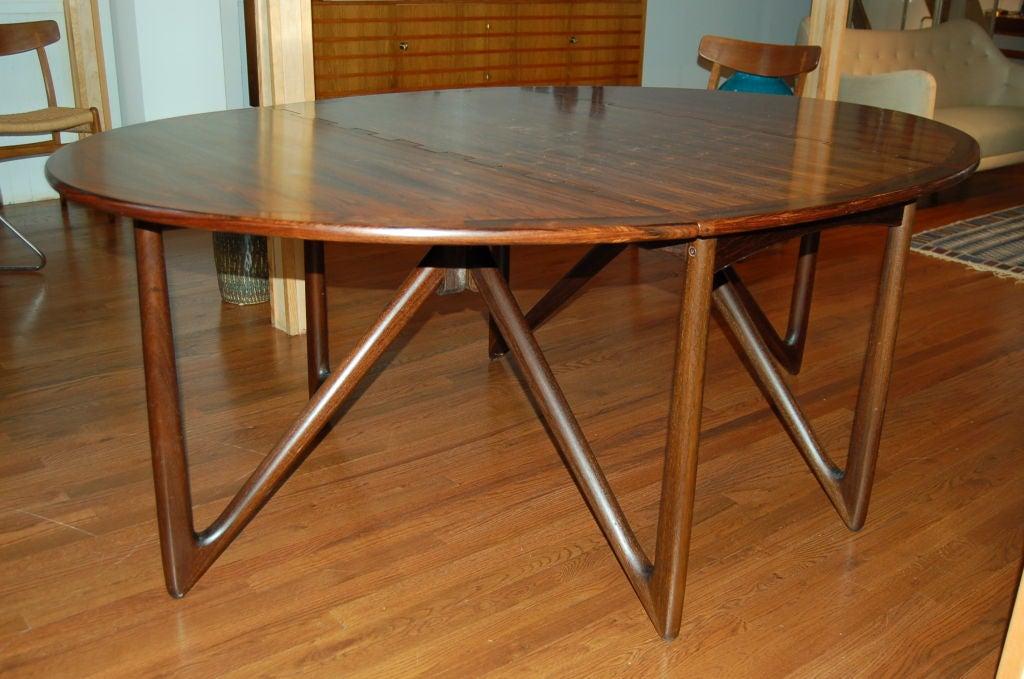 Scandinavian Modern Dining Table by Kurt Östervig for Jason Möbler, Denmark, 1950s For Sale