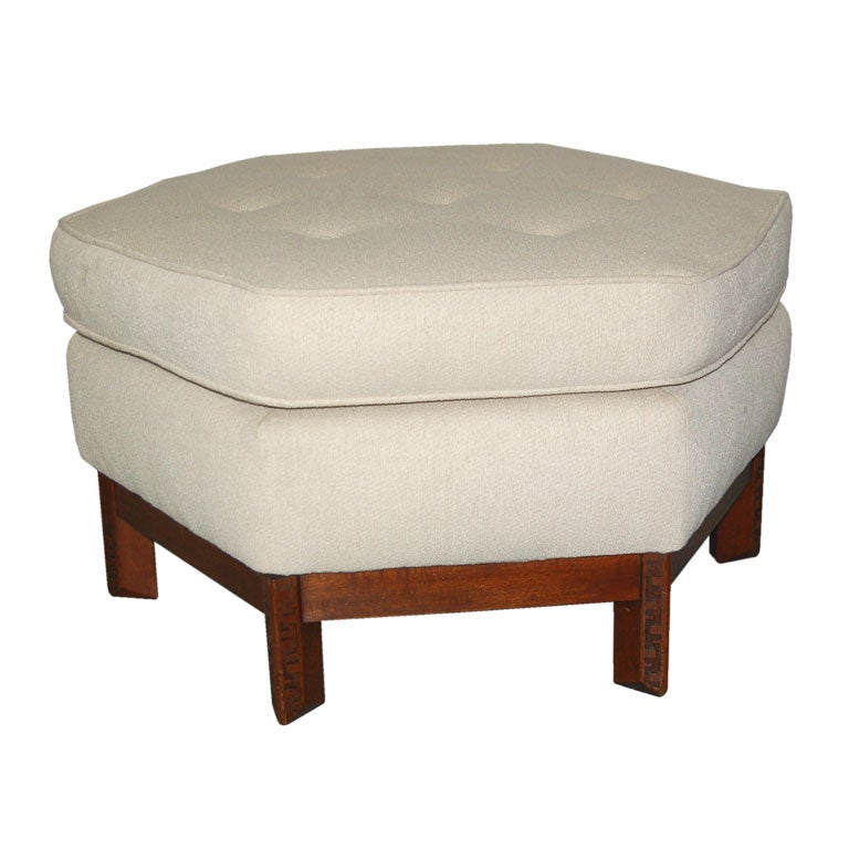 ottomans with storage hexagonal ottoman by frank lloyd wright for henredon at 10019