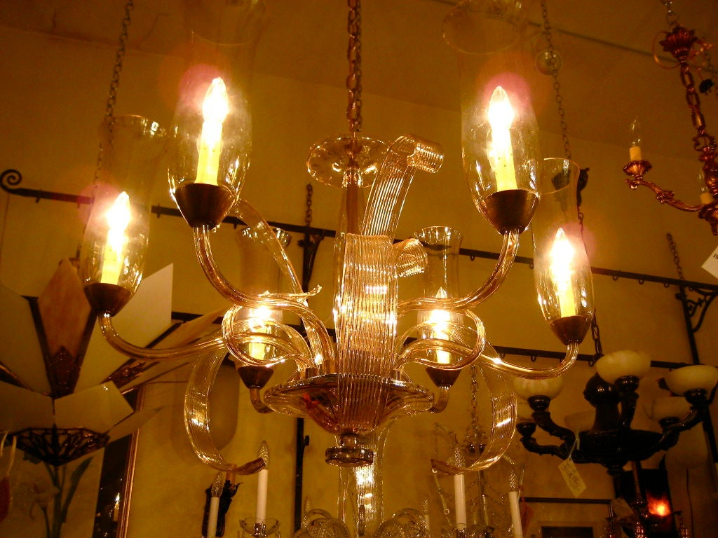 Exceptional Czech Art Deco Chandelier image 6