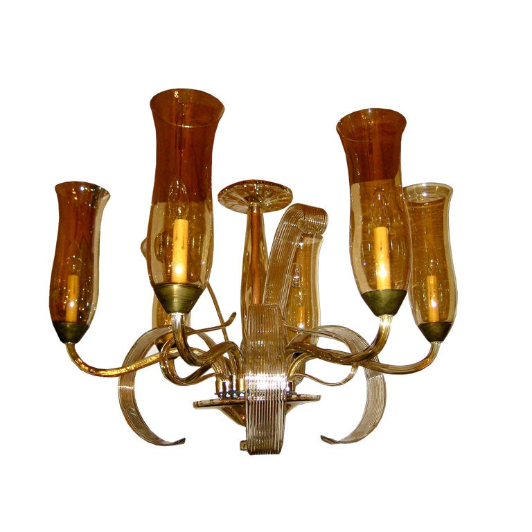 Exceptional Czech Art Deco Chandelier