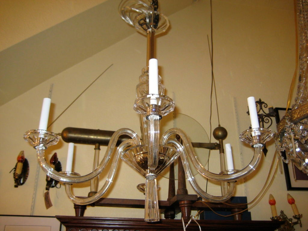 Art Deco Clear Chandelier At 1stdibs