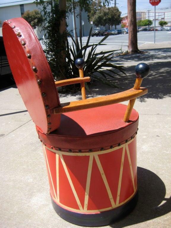 Wood Child's Drum Chair
