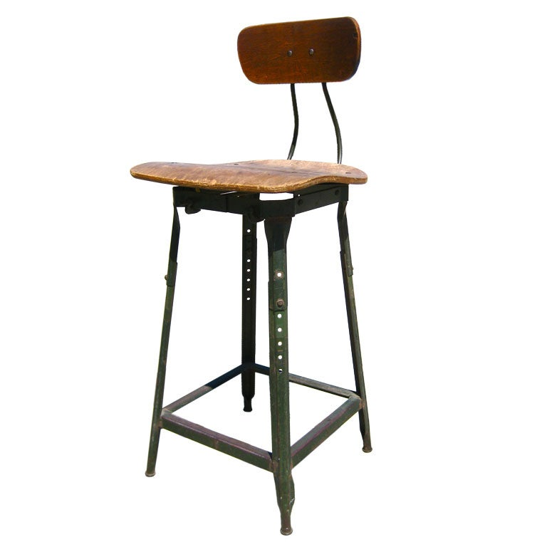 Industrial Work Stool At 1stdibs
