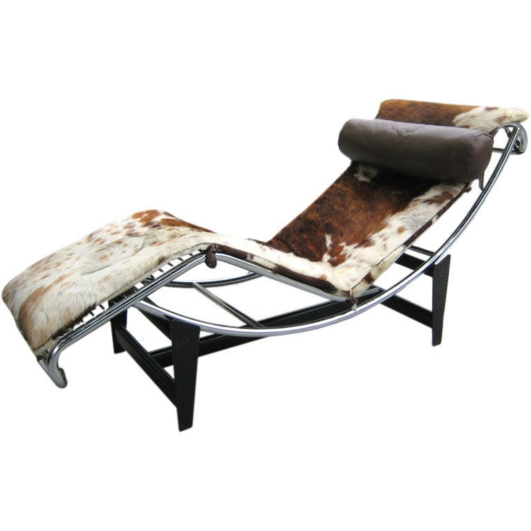 Le Corbusier - Vintage Le Corbusier Repro Chaise :  interior design modern contemporary furniture interior chaise lounge