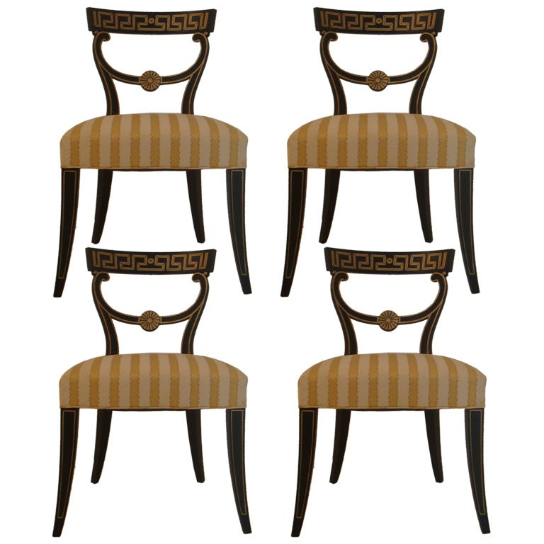 Set Of 4 Neoclassical Chairs By Richard Plummer For Sale