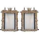 Pair of Shell Mirrors
