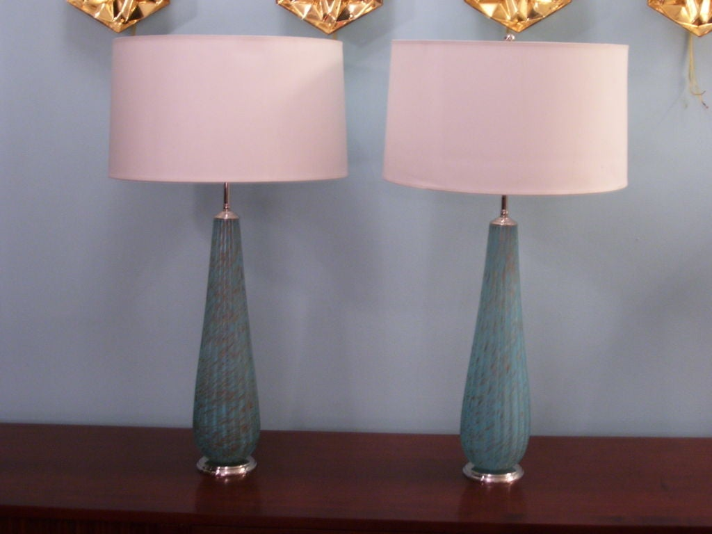 this pair of turquoise venetian glass table lamps is no longer. Black Bedroom Furniture Sets. Home Design Ideas
