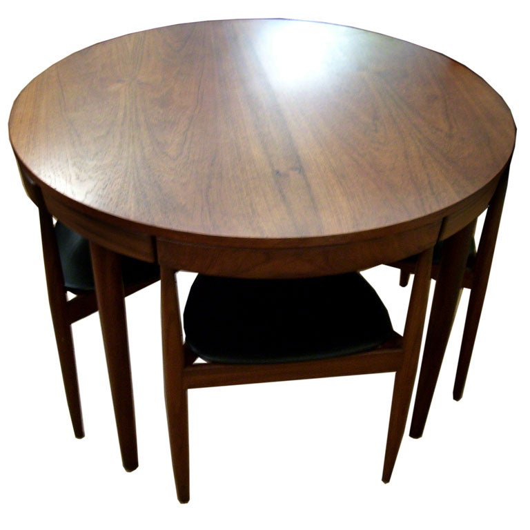 Hans olsen compact dining set at 1stdibs for Compact dining room set
