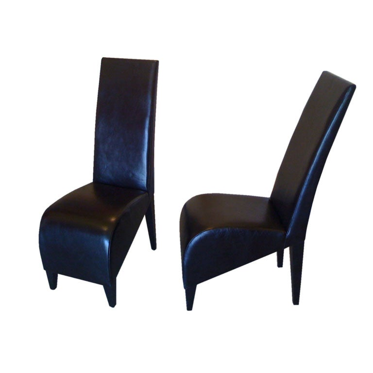 Philippe starck leather hotel chairs at 1stdibs for Philippe starck chair