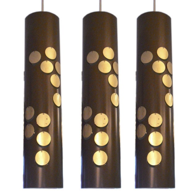 Three French Sixties Hanging Lights At 1stdibs