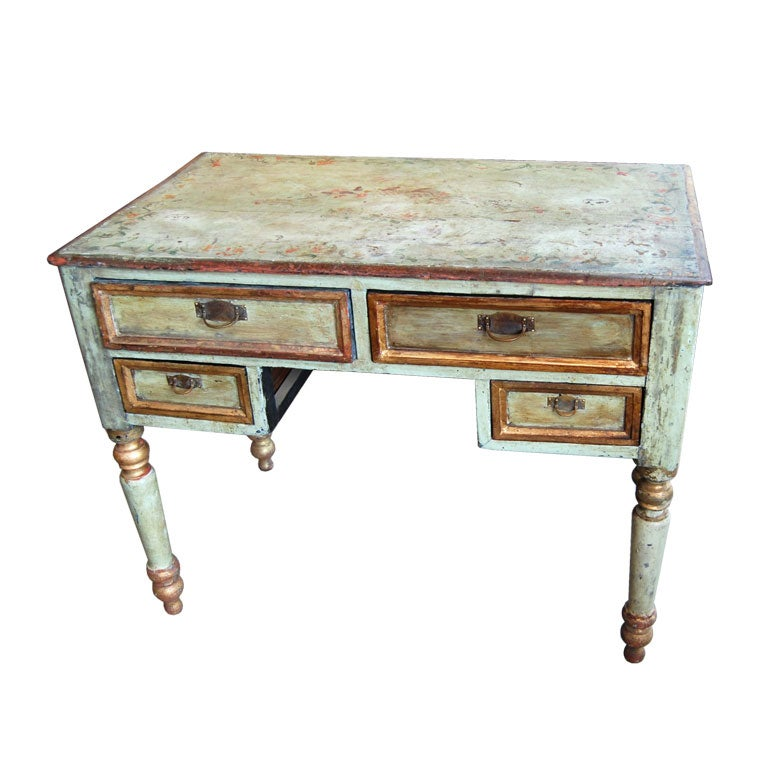 19th Century Painted Desk For Sale