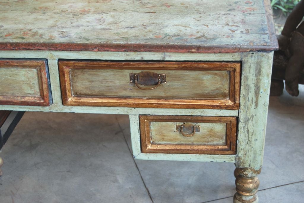 Italian 19th Century Painted Desk For Sale