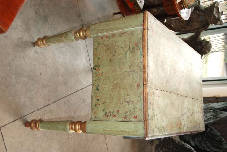 19th Century Painted Desk In Good Condition For Sale In New Orleans, LA