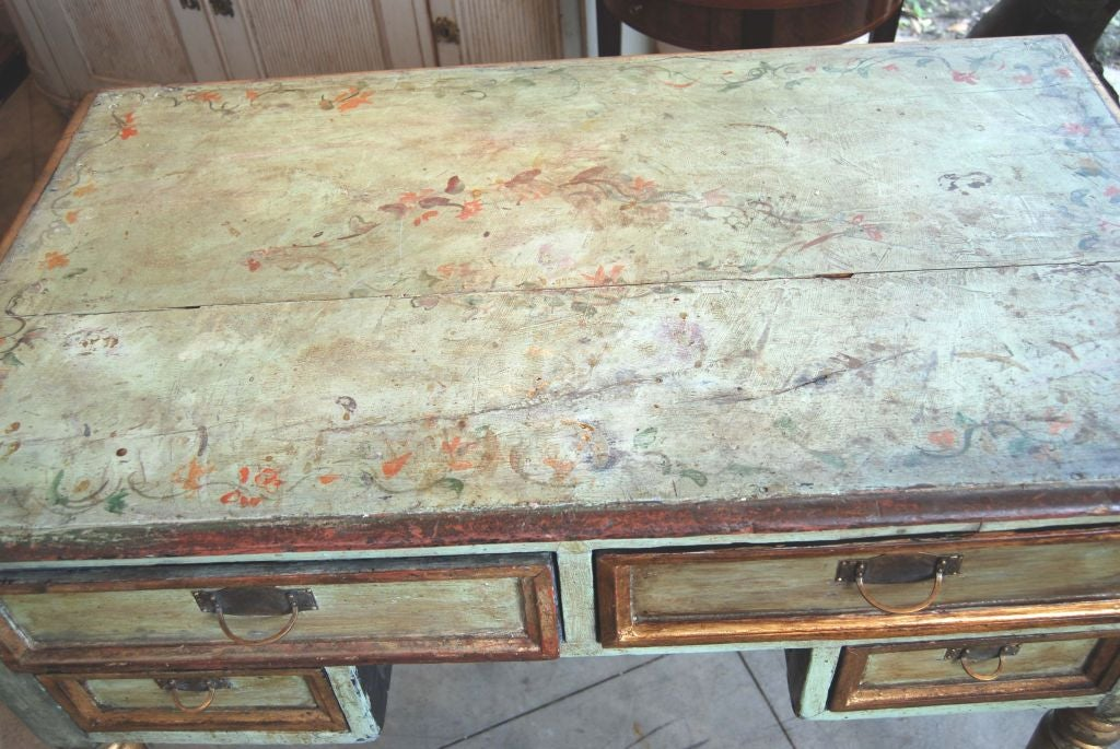 Wood 19th Century Painted Desk For Sale