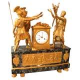 Exceptional Bronze Dore Mantle Clock