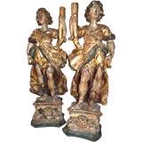18th c. Italian Torcheres