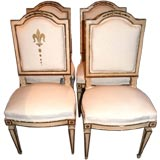 Set of Four 19th c. Italian Chairs