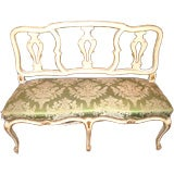Belle Epoch Painted and Gilded Bench