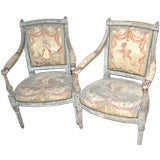 Pair of 18th Century Louis XVI Aubusson Chairs