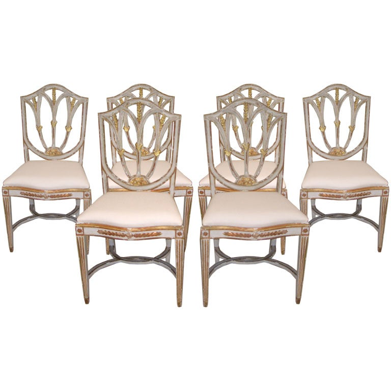 Italian dining chairs at 1stdibs for Italian dining room furniture