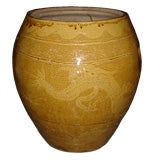 Antique Asian Ceramic Planter with Dragon Motif