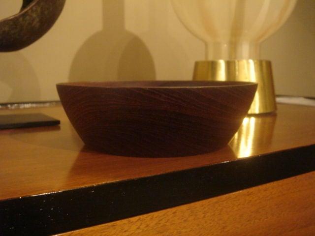 Mid-Century Modern Vintage Bob Stocksdale Siam Teak Wood Bowl For Sale