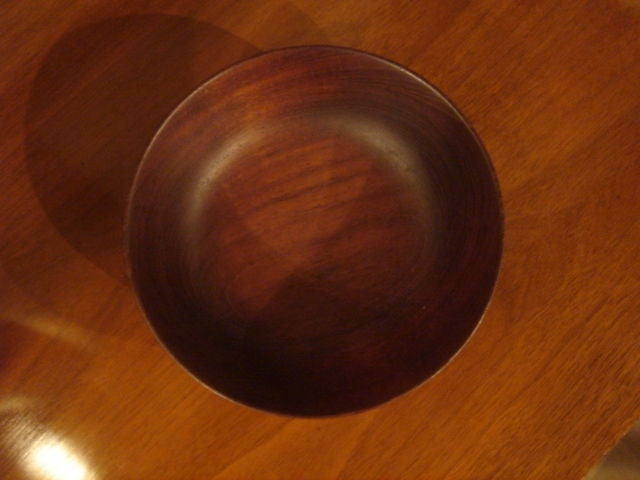 American Vintage Bob Stocksdale Siam Teak Wood Bowl For Sale