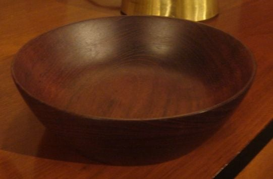 Vintage Bob Stocksdale Siam Teak Wood Bowl In Excellent Condition For Sale In New York, NY