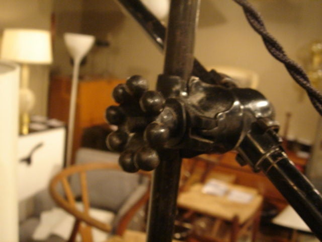 Pair of Vintage O.C. White Industrial Wall-Mount Swing-Arm Lamps 8