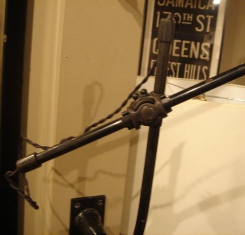 Pair of Vintage O.C. White Industrial Wall-Mount Swing-Arm Lamps 7